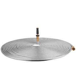 TOUCH-RICH 100 ft Stainless Steel Garden Hose