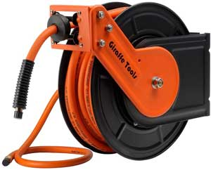 retractable air compressor hose reel