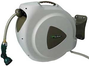 heavy duty retractable garden hose reel