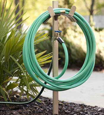 free standing garden hose stand
