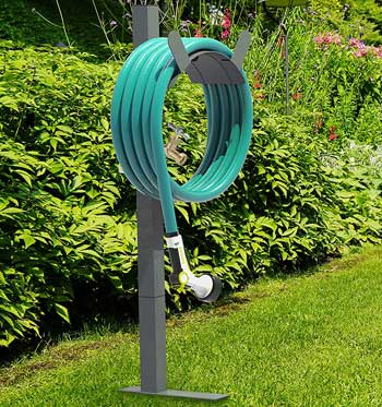 garden hose stand with brass faucet